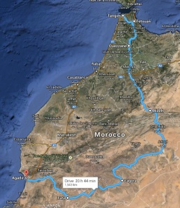 Our route through Morocco
